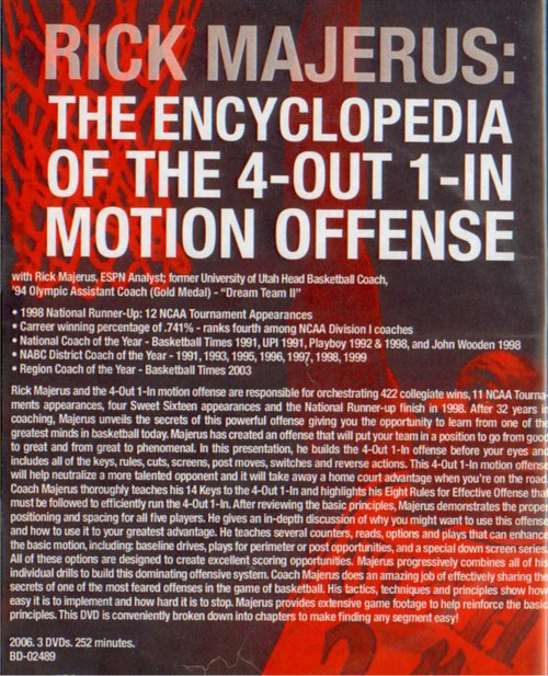 (Rental)-Rick Majerus: The Encyclopedia Of The 4--out--1--in