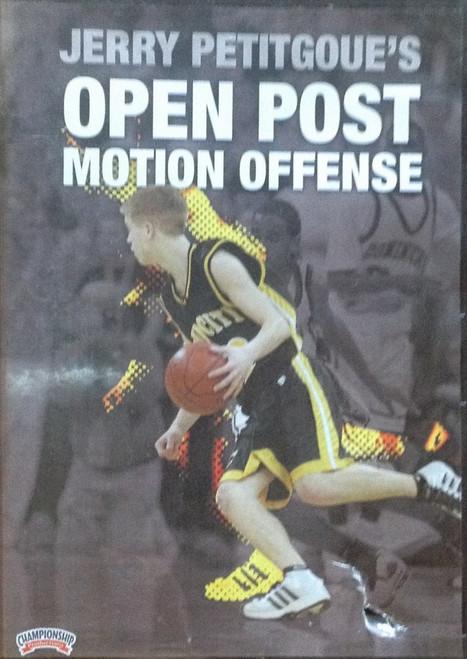 Open Post Motion Offense Petitgoue by Jerry Petitgoue Instructional Basketball Coaching Video