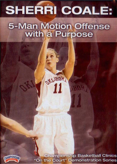 5 Man Motion Offense With A Purpose by Sherri Coale Instructional Basketball Coaching Video