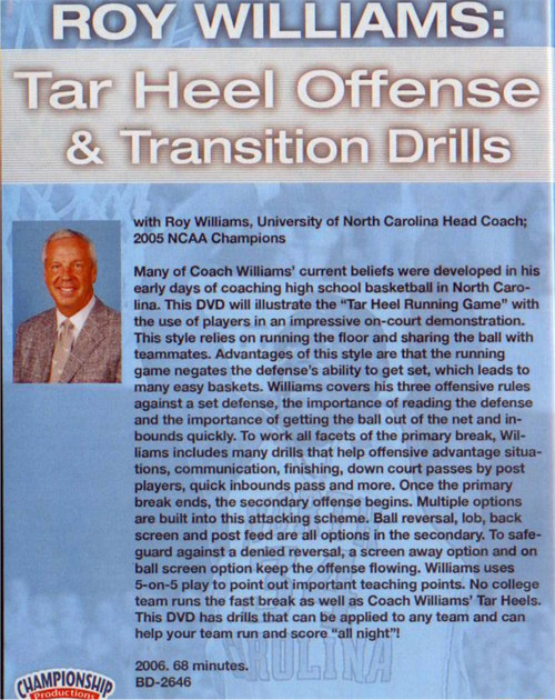 (Rental)-Tar Heel Offense And Transition