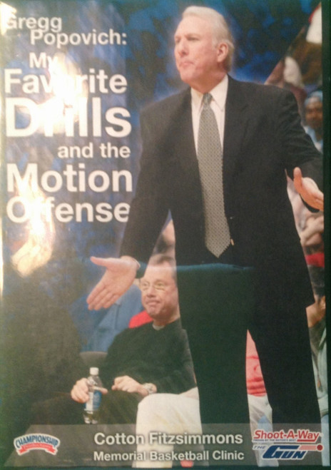 My Favorite Drills And Motion Offense by Gregg Popovich Instructional Basketball Coaching Video