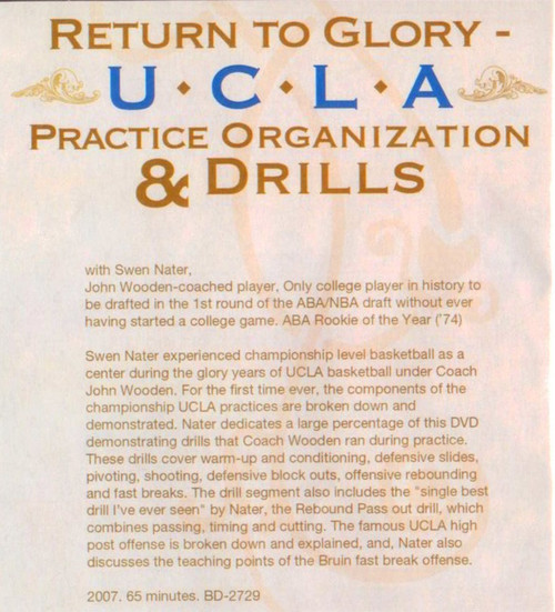 (Rental)-Return To Glory-- Ucla Practice And Drills