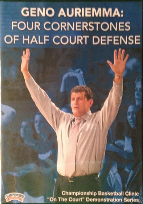 Four Cornerstones Of Half Court Offense by Geno Auriemma Instructional Basketball Coaching Video