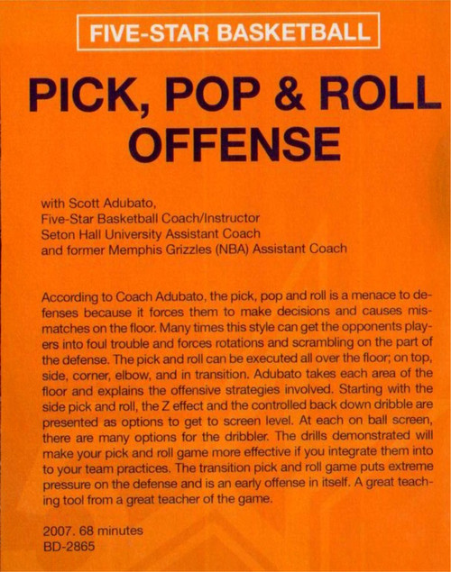 (Rental)-Pick, Pop And Roll Offense