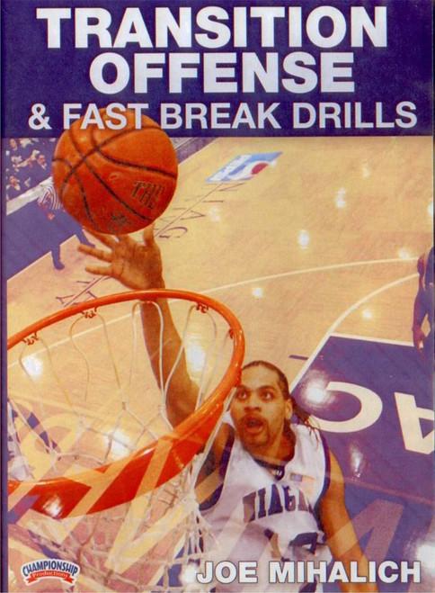 Transition Offense & Fast Break Drills by Joe Mihalich Instructional Basketball Coaching Video