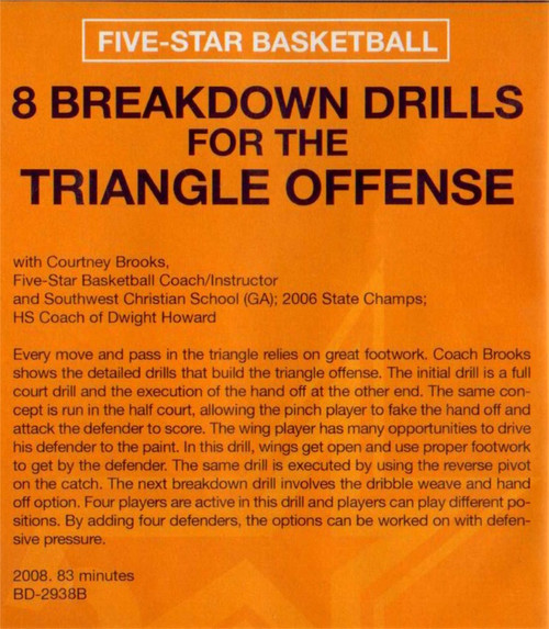 (Rental)-8 Breakdown Drills For The Triangle Offense
