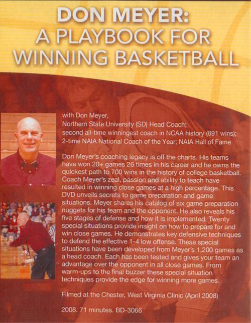 (Rental)-Don Meyer: A Playbook For Winning Basketball