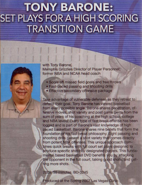 (Rental)-Set Plays For A High Scoring Transition Game