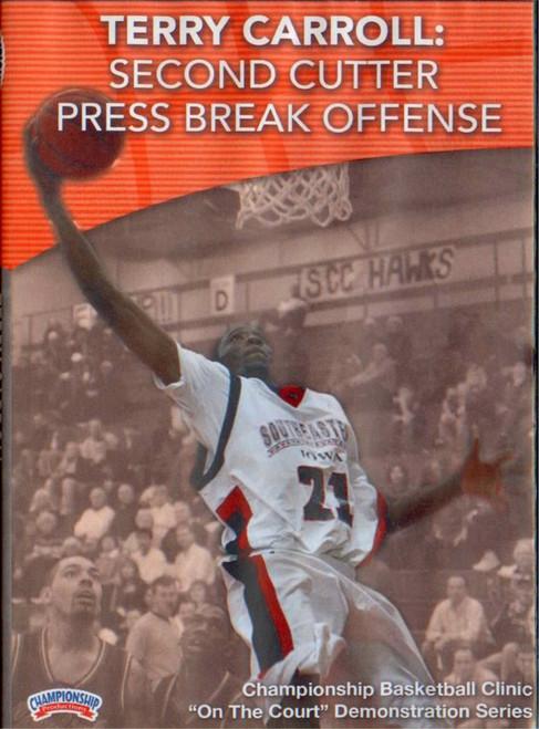 Second Cutter Press Break Offense by Terry Carroll Instructional Basketball Coaching Video