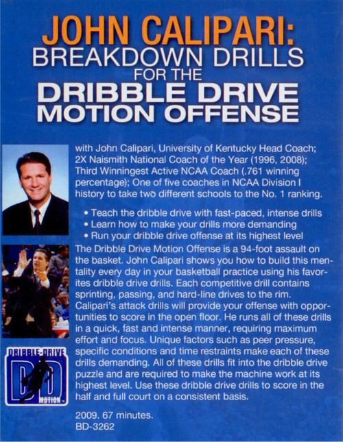 (Rental)-Breakdown Drills For The Dribble Drive Motion Offense
