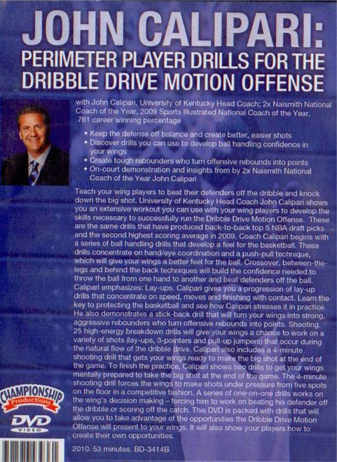 (Rental)-Perimeter Player Drills For The Dribble Drive Offense