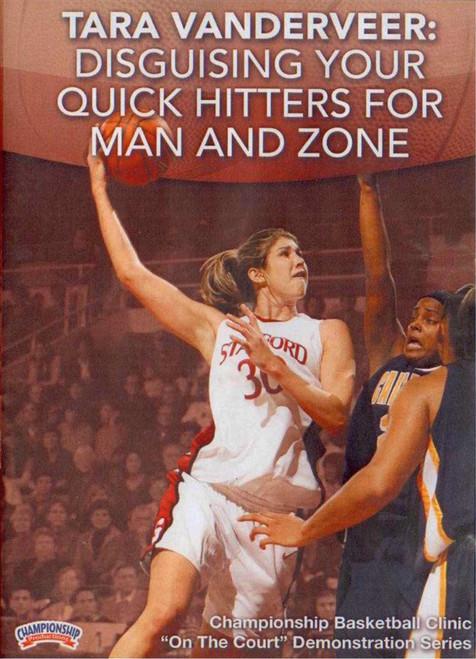 Quick Hitters Vs. Man & Zone Defenses by Tara VanDerVeer Instructional Basketball Coaching Video