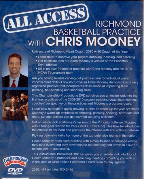 basketball practice DVD with Chris Mooney