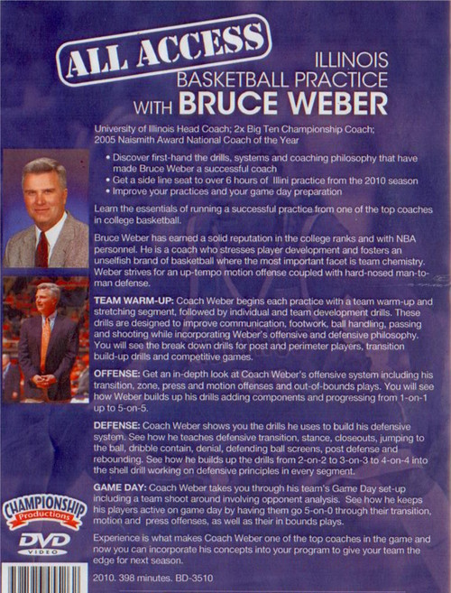 Bruce Weber basketball practice drills video