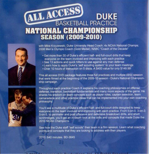(Rental)-All Access: Duke National Champs (2009-2010)