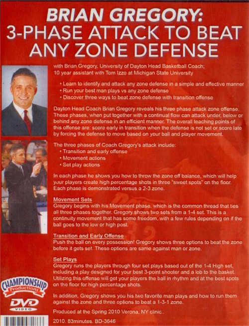 (Rental)- 3--phase Attack To Beat Any Zone Defense