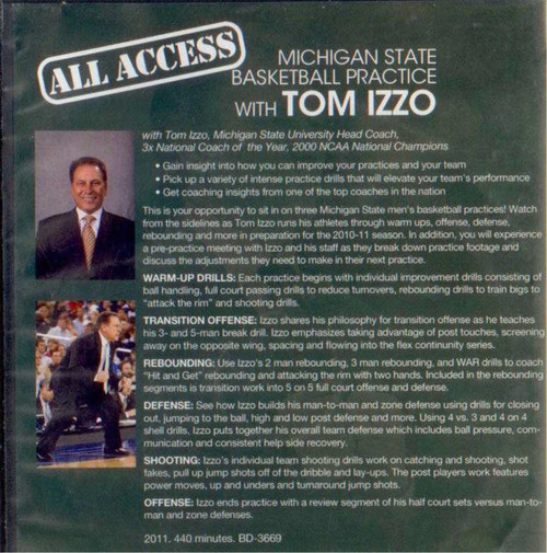 Tom Izzo basketball practice plan