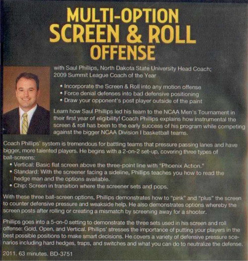 (Rental)-Multi--option Screen And Roll Offense