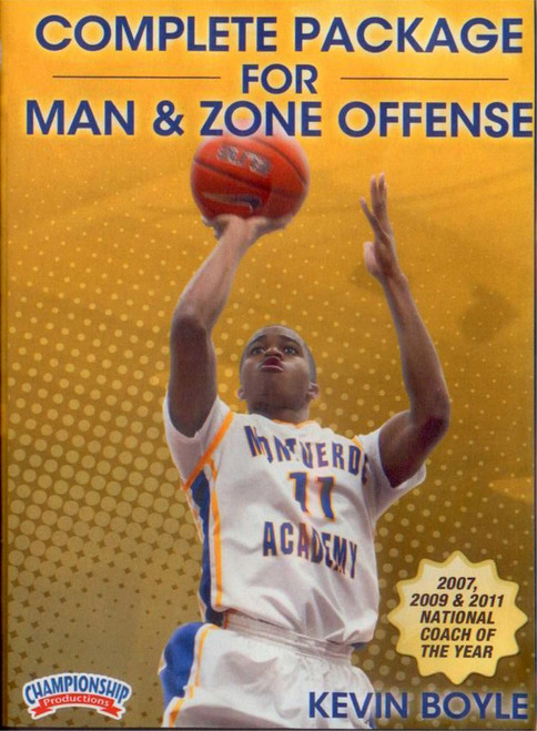 Complete Package For Man & Zone Offense by Kevin Boyle Instructional Basketball Coaching Video