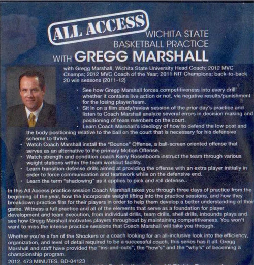 Greg Marshall Basketball practice plan video