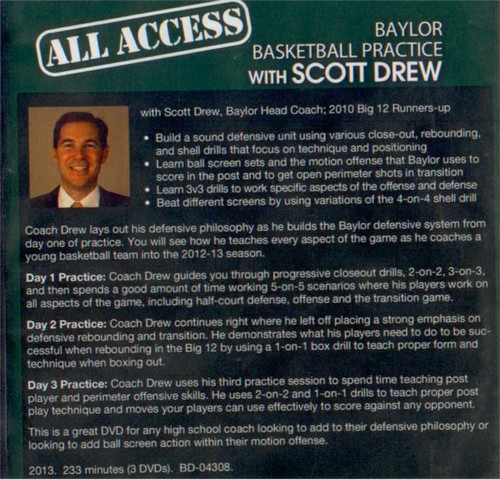 Scott Drew basketball practice plan video