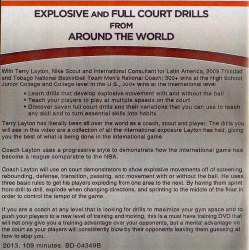 (Rental)-Explosive & Full Court Drills Around The World