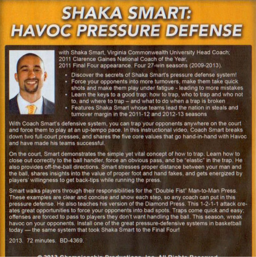 (Rental)-Shaka Smart: Havoc Pressure Defense Dvd