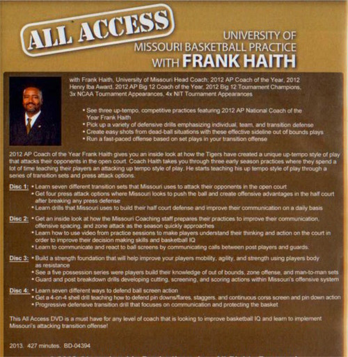 Frank Haith Basketball Practice Drills