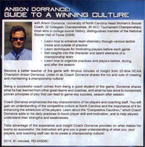 (Rental)-Anson Dorrance: Guide To A Winning Culture