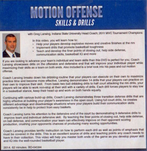 (Rental)-Motion Offense Skills & Drills