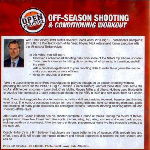 Off Season Basketball Shooting Drills and workout with Fred Hoiberg