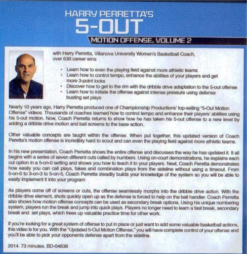 (Rental)-Harry Perretta's 5 Out Motion Offense Vol. 2