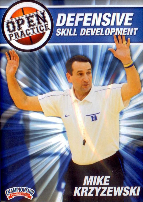 Mike Krzyzewski Open Practice: Defensive Skill Development by Mike Krzyzewski Instructional Basketball Coaching Video