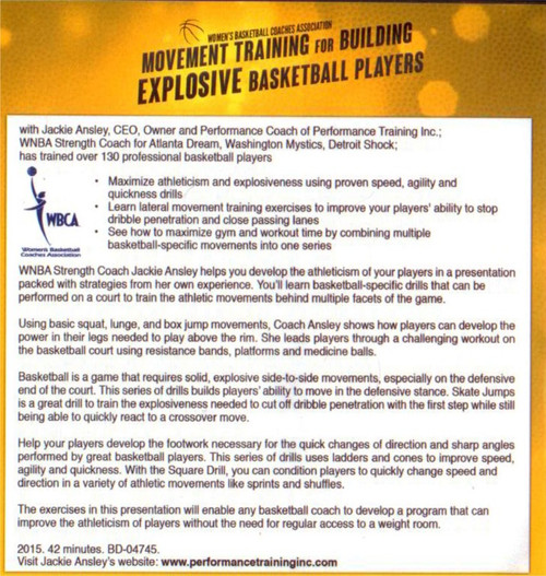 (Rental)-Movment Training For Building Explosive Basketball Players