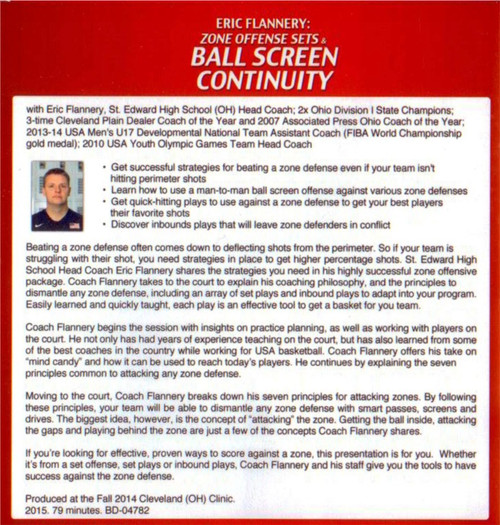 (Rental)-Zone Offense Sets & Ball Screen Continuity