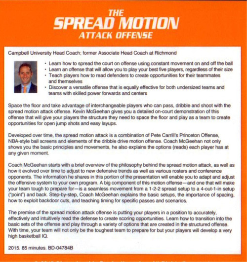 (Rental)-The Spread Motion Offense