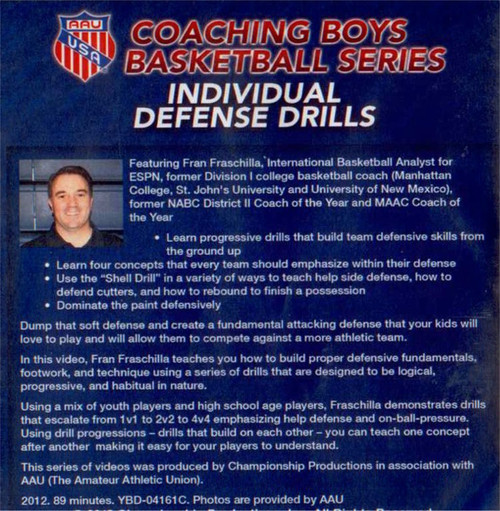 (Rental)-Aau Boys Basketball Series: Individual Defense Drills (fraschilla)