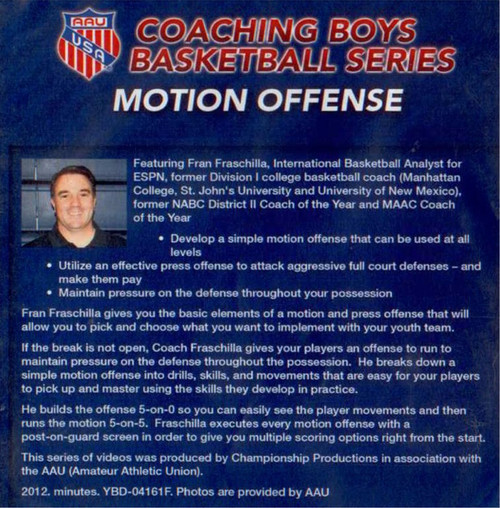 (Rental)-Aau Boys Basketball Series: Motion Offenses