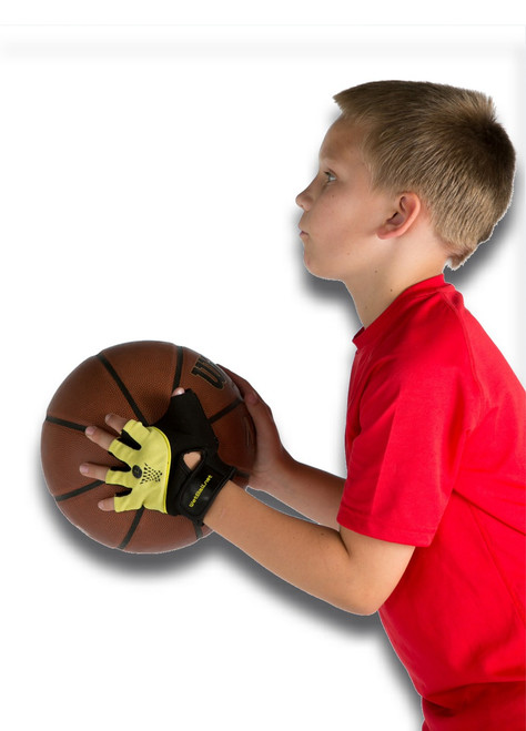 Wetmitt training aid to stop thumbing the ball.