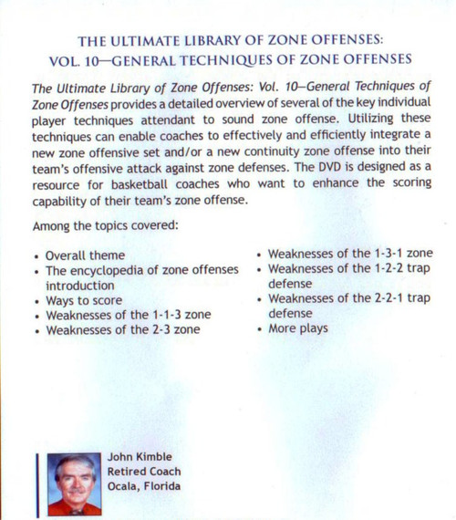(Rental)-General Techniques Of Zone Offenses