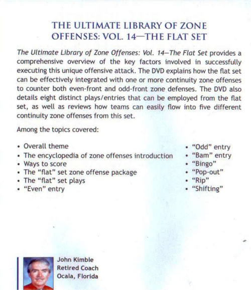 (Rental)-Zone Offense: The Flat Set