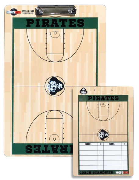 Custom basketball coaching boards dry erase lineup