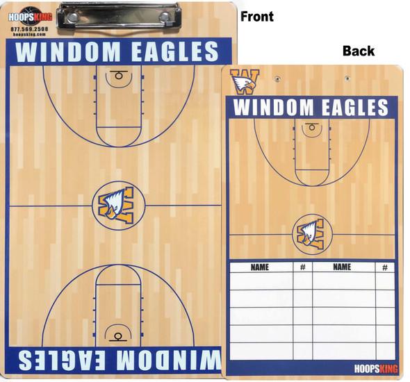 custom basketball clipboard with lineup on back