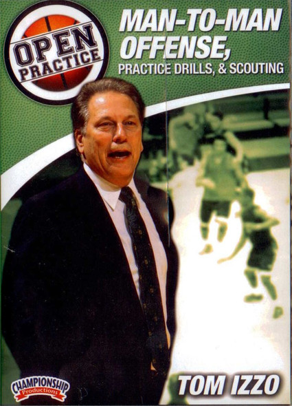 Open Practice Man To Man Offense Practice Drills And Scouting by Tom Izzo Instructional Basketball Coaching Video