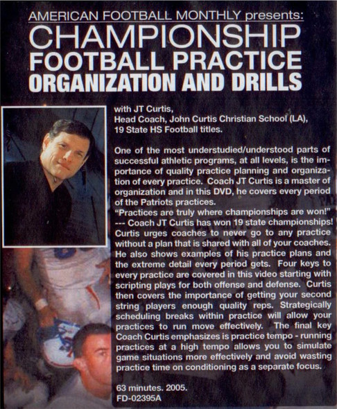 (Rental)-CHAMPIONSHIP FOOTBALL PRACTICE ORGANIZATION