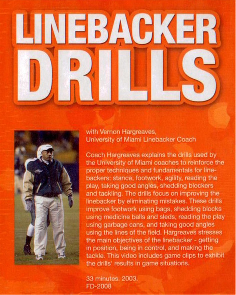 (Rental)-LINEBACKER DRILLS DVD(HARGREAVES)