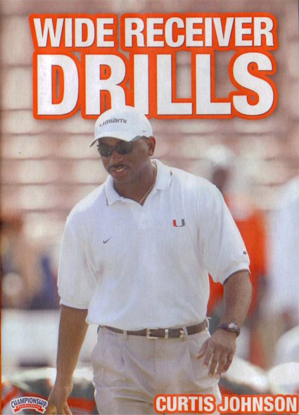 WIDE RECEIVER DRILLS DVD(JOHNSON) by Curtis Johnson Instructional Basketball Coaching Video