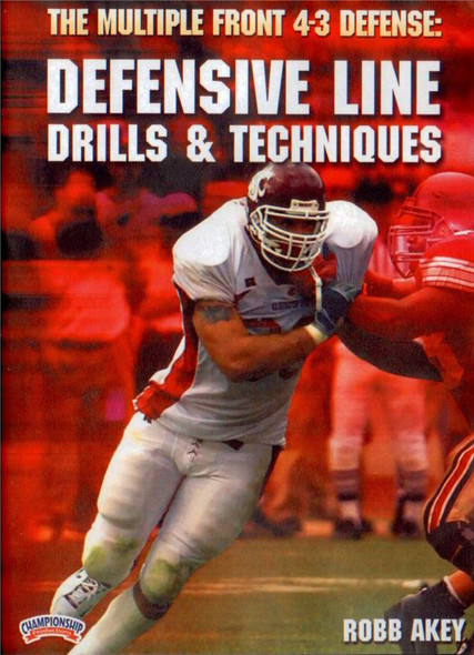 THE MULTIPLE FRONT 4-3 DEFENSE:DEFENSIVE LINE by Robb Akey Instructional Basketball Coaching Video