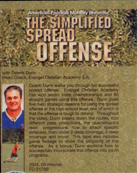 (Rental)-THE SIMPLIFIED SPREAD OFFENSE DVD(DUNN)