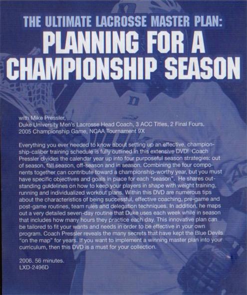 (Rental)-Ultimate Lacrosse Master Plan: Planning Championship Season